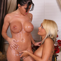 Rebeca Linares loves the feel of Brandy's fingers inside her vagina