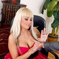 Brandy Blair got her big tits grabbed in red dress