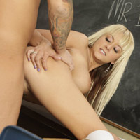 Brandy Blair banged doggystyle and barebacked