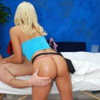 Lucky client grabbing Brandy's ass